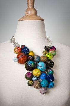 felted necklace by Modern Fiber Lab