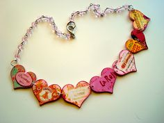 Shrink plastic necklace