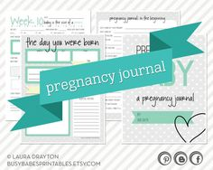 Pregnancy Journal - Weekly Pregnancy Log - Printable - INSTANT DOWNLOAD on Etsy, $8.00