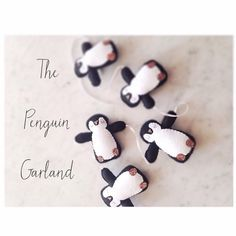 The Penguin Garland by VelveteenBabies on Etsy