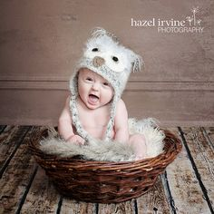 lighting and props for infant photography  | Handmade. Crochet. Newborn. Baby Owl Hat. Newborn Photography Prop.