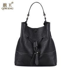98e9f68159 Russian Women Cowhide Genuine Leather Bags Brand Designer Fashion Women Bags  Spanish Brand Bucket Bag Handbag