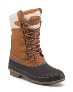Cozy Lace Up Duck Boots