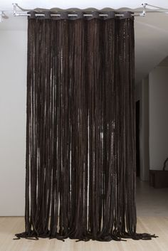leather curtains Rick Owens