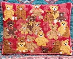 Teddy Collection (Red) Tapestry Needlepoint Kit TCRP