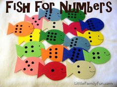 fish for numbers center, math center ideas,