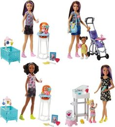 Buy Barbie Sisters Babysitter Playset- Assorted online or in store at Mr Toys. Browse our Barbie range at great prices. Barbie Bebe, Barbie Skipper, Barbie Toys, Barbie And Ken, Barbie Playsets, Barbie Stuff, Baby Barbie, Toddler Dolls, Child Doll