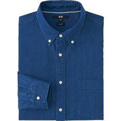 Men's Slim-Fit Denim Shirt