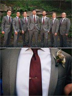 grey and burgundy groomsmen wedding chicks wedding fall ideas / april wedding / wedding color pallets / fall wedding schemes / fall wedding colors november Perfect Wedding, Dream Wedding, Wedding Day, Trendy Wedding, Wedding Ceremony, Autumn Wedding, Gothic Wedding, Luxury Wedding, Elegant Wedding