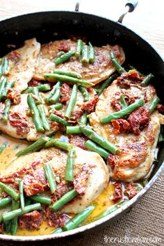 Green Bean and Sundried Tomato Chicken