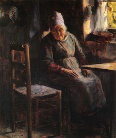 Guy Rose, la Mere Pichaud, 1890.  That empty chair breaks my heart.