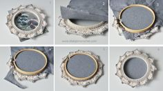 fcfbda9be1c How to turn embroidery hoops into photo frames with crochet - tutorial by  Lilla Bjorn Crochet