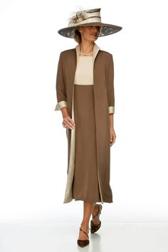 Mother of the Bride/Groom - Elegant Dress and Coat - Joyce Young Collections By Storm Mother Of Bride Outfits, Mother Of Groom Dresses, Mother Of The Bride, Mother Of The Groom Clothes, Joyce Young, Mob Dresses, Bride Dresses, Groom Outfit, Long Jackets