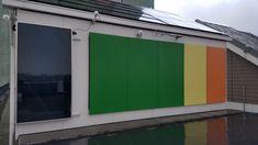 Warmte opwekken met gekleurde coatings op gevelbeplating » Bouwwereld.nl