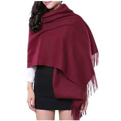 "Saferin® 78"" x 28"" Women Luxurious 100% Solid Cashmere Pashmina Wrap Shawl (1.Black) at Amazon Women's Clothing store:"