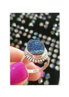 Drusy Sterling Silver ring