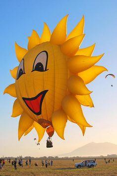 The Hot Air Balloon Fiesta-Clark Airfield, Pampanga Air Balloon Rides, Hot Air Balloon, Expo 67 Montreal, Air Balloon Festival, Good Day Sunshine, Vintage Neon Signs, Air Ballon, Big Balloons, Sun Art