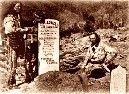 Charlie Utter and his brother Steve at the grave of Wild Bill Hickok, August, Photo courtesy Adams Museum. Deadwood South Dakota, Famous Outlaws, American Line, Native American History, American Indians, American Frontier, People Of Interest, Western Movies, Wild West
