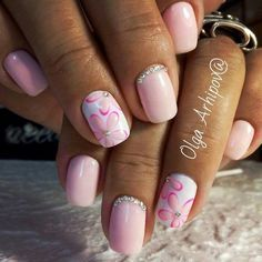63 Dazzling Flower Nail Art For Pleasant Spring 2017 Beautiful Pink Nails Pink Manicure, Pink Nails, Cute Nails, Pretty Nails, Minion Nails, Funky Nail Art, Gold Glitter Nails, Cute Nail Art Designs, Flower Nail Art