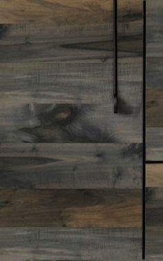 BDDW's Lake Low Credenza front detail in Oxidized Maple