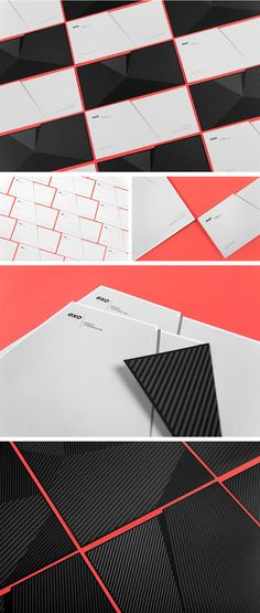 Branding by Murmure for EXO, a French Architectural Agency Art direction, branding, and graphic design by Murmure for EXO, a French architectural agency. Identity Design, Visual Identity, Design Agency, Brand Identity, Letterhead Design, Typography Design, Stationary Branding, Stationery, French Architecture