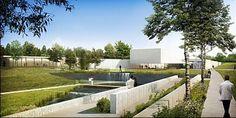 «Le Rivage», le crématorium du Boulonnais - l'eau, la lumière et le feu #archi #funeraire #france #cremation #design #concept