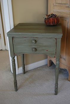 chateau gray chalk paint with clear and dark wax--lovely finish!