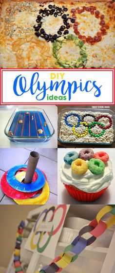 DIY Olympics Ideas - Make it extra special for your family and friends (or students) with some festive Olympics treats and crafts that they will love.