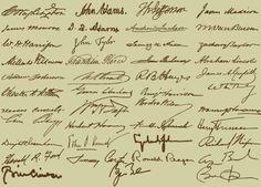 Presidential signatures.