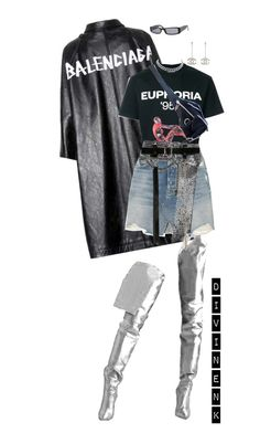 """""""That euphoria"""" by divinenk ❤ liked on Polyvore featuring Balenciaga, MISBHV, GRLFRND, Christian Dior, AMBUSH and Chanel"""
