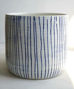 Image of tall striped bowl - Paula Grief