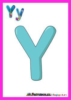 Set de planse cu toate literele pentru clasa   Am postat un set cu litere frumos colorate pentru clasa. Literele sunt foarte atractive si fo... Oracle Cards, Pre School, Classroom Decor, Preschool Activities, Elementary Schools, Kindergarten, Homeschool, Symbols, Letters