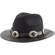 The Kooples Embellished Felt Hat with Leather Brim