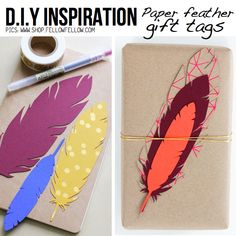 Paper Feather Gift Tags | 51 Seriously Adorable Gift Tag Ideas