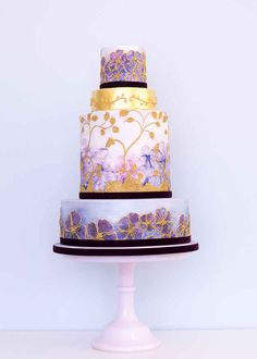 This luxurious watercolor cake.
