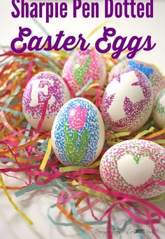 decorate easter eggs with sharpie pens, crafts, easter decorations, how to, repurposing upcycling, seasonal holiday decor