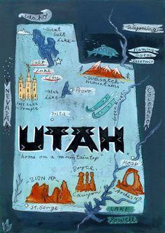 Postcard From Utah - Print