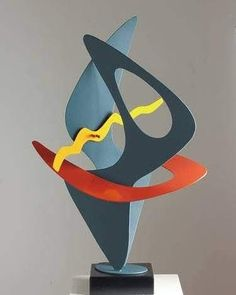 Featured Artist: Paul Stein Title: Warm Feelings Medium: Metal Sculpture, Color and Steel on Aluminum . Sculpture Clay, Abstract Sculpture, Geometric Sculpture, Diy Crafts Slime, Slime Craft, Egyptian Party, Mobile Art, Sculptures For Sale, Mid Century Art