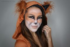 From Head To Toe: Fox Halloween Tutorial! Another Top contender for me :) Fox Makeup, Animal Makeup, Hair Makeup, Beauty Makeup, Contour Makeup, Fox Halloween, Halloween Make Up, Halloween Face Makeup, Halloween Costumes