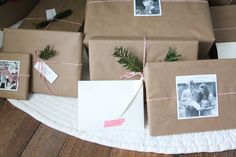 simple Christmas gift wrap and tags