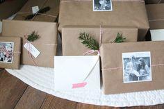 simple Christmas gift wrap and tags