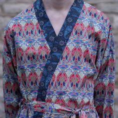 Liberty Print Cotton Kimono Robe  William by handmadebyflavia