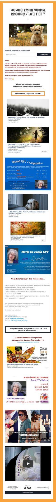 Pourquoi pas un automne ressourçant avec l'EFT ?