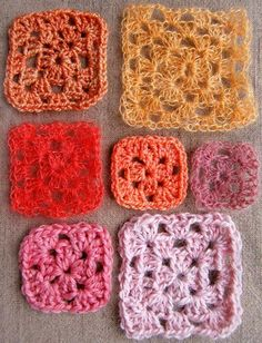 You can make granny squares big, small, tight, loose, from a single color or many colors. The only guidelines are to find a beautiful, natural yarn you'll really want to cuddle, and have a fun time inventing each unique square.