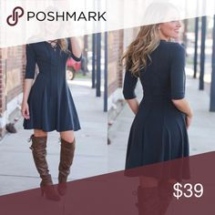 """Lace Up Front Modal Dress This trendy dress is a must have!  Try with some knee highs or a cute peep toe!  You cannot go wrong with this look. 64%Modal 36%Spandex   BUST: XS-15"""" S-16"""",M-17"""",L-18"""".   LENGTH: XS-34"""" S-35"""", M-36"""",L-37"""". Infinity Raine Dresses"""