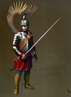 Heavy_Polish_winged_Hussars_by_CG_Zander.jpg (640×875)