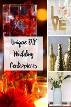 25+ Unique DIY Wedding Centerpieces | Add a creative and beautiful look to your big day with these elegant and unique centerpieces!