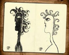Эскизы из серии Арт Люди | Антон Кио
