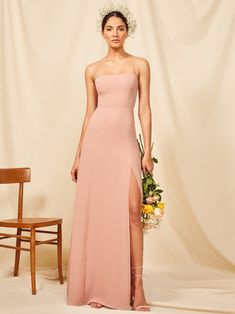 You might ugly cry during your toast but at least your dress is cute. Shop the floor length Ingrid Dress from Reformation. Blush Dresses, Bridesmaid Dresses, Prom Dresses, Wedding Dresses, Long Dresses, Business Professional Dress, Professional Dresses, Business Casual, Formal Gowns