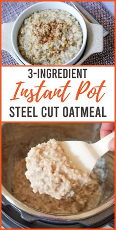 Oats Recipes, Smoothie Recipes, Cooking Recipes, Instant Pot Pressure Cooker, Pressure Cooker Recipes, Pressure Cooking, Steel Cut Oatmeal, Instant Pot Dinner Recipes, Instant Oatmeal Recipes
